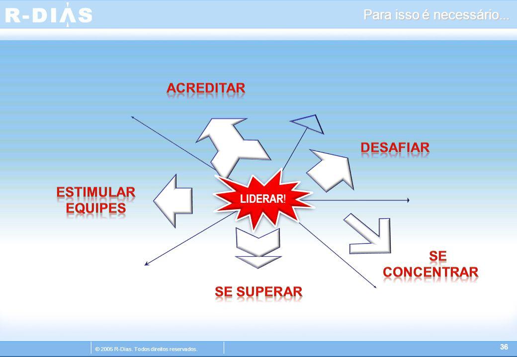 © 2005 R-Dias. Todos direitos reservados. Para isso é necessário... 36 LIDERAR !