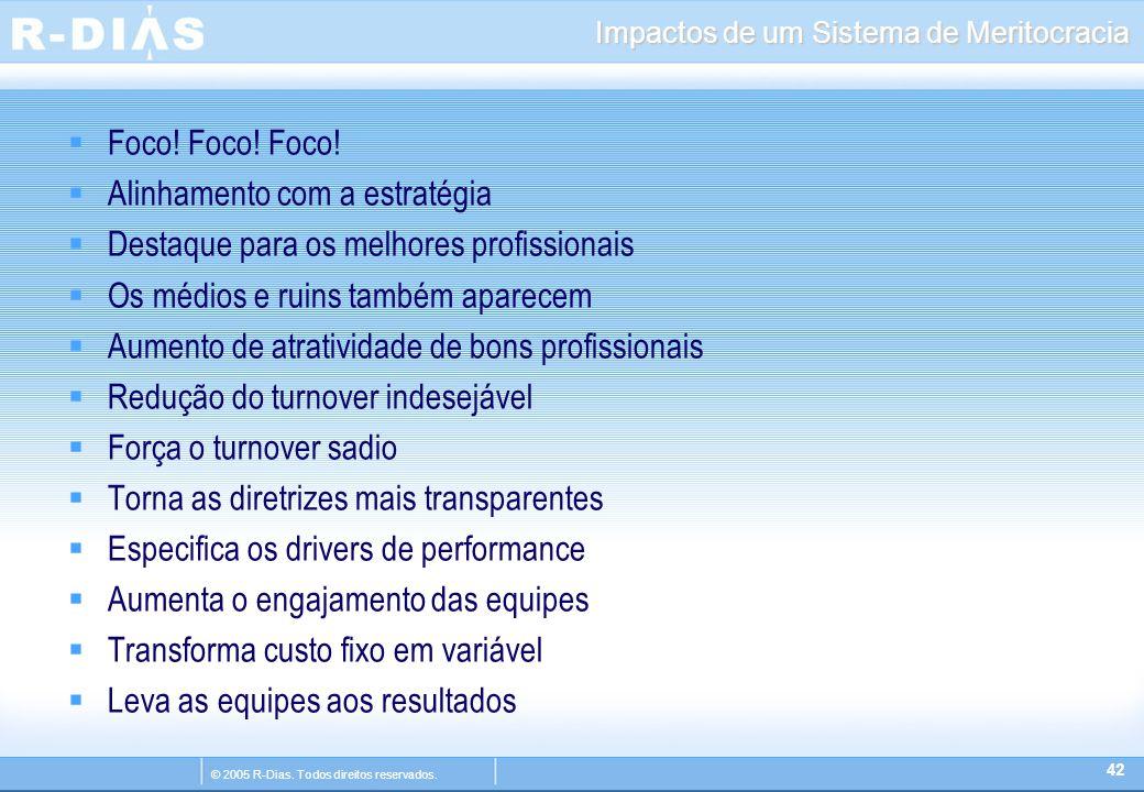 © 2005 R-Dias. Todos direitos reservados. Impactos de um Sistema de Meritocracia  Foco.