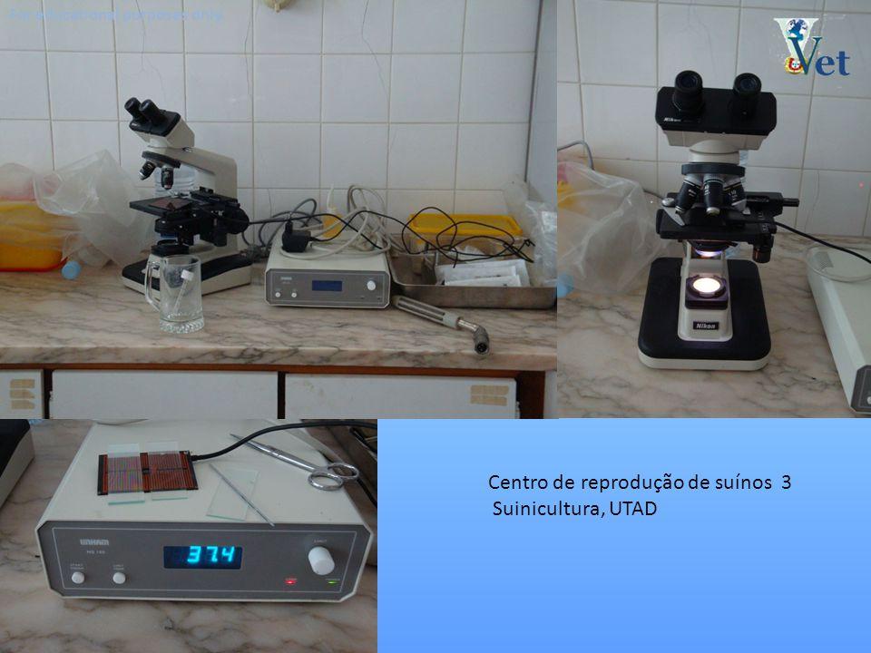 For educational purposes only. Centro de reprodução de suínos 3 Suinicultura, UTAD