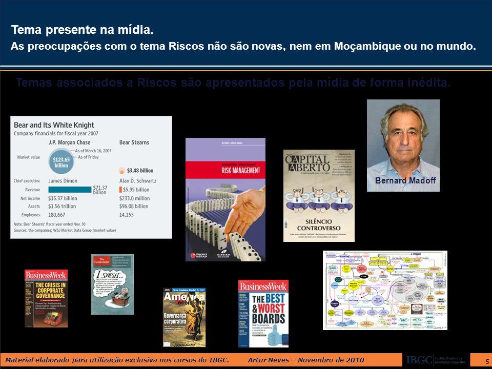 Material elaborado para utilização exclusiva nos cursos do IBGC. Artur Neves – Novembro de 2010 5 Tema presente na mídia. As preocupações com o tema R