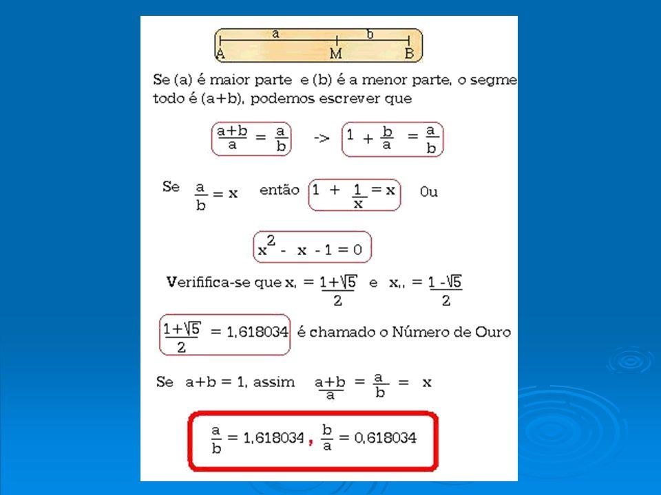 Um Método para a divisão de um segmento AB, na razão áurea.