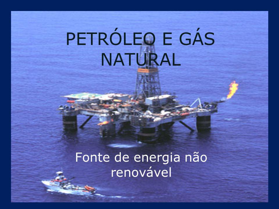 Petróleo O petróleo é considerado uma fonte de energia não renovável, de origem fóssil e é matéria prima da indústria petrolífera e petroquímica.