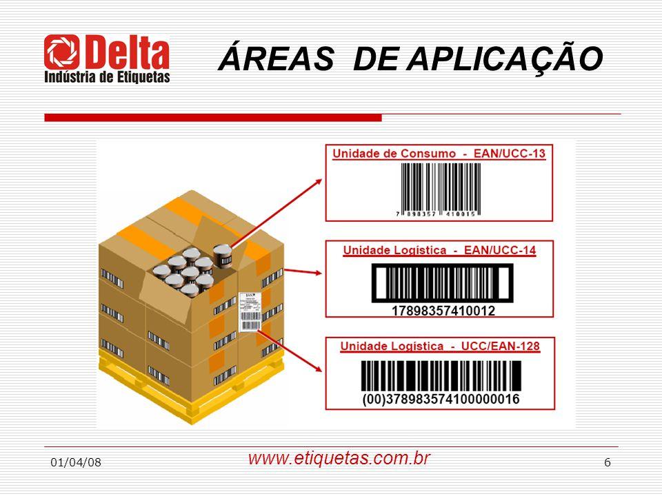 01/04/086 www.etiquetas.com.br ÁREAS DE APLICAÇÃO