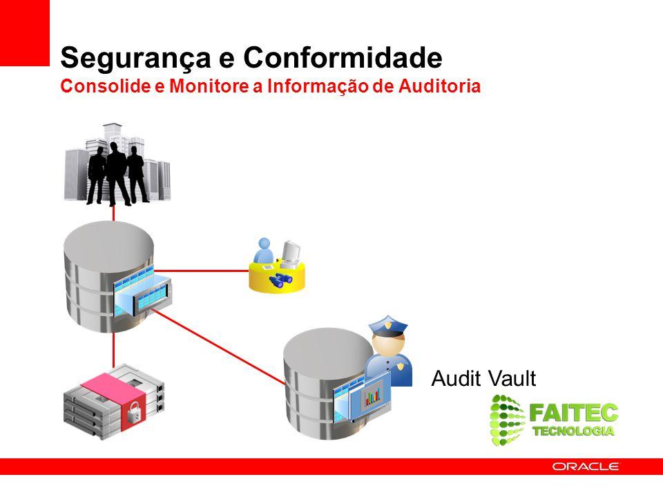 Segurança e Conformidade Consolide e Monitore a Informação de Auditoria Audit Vault