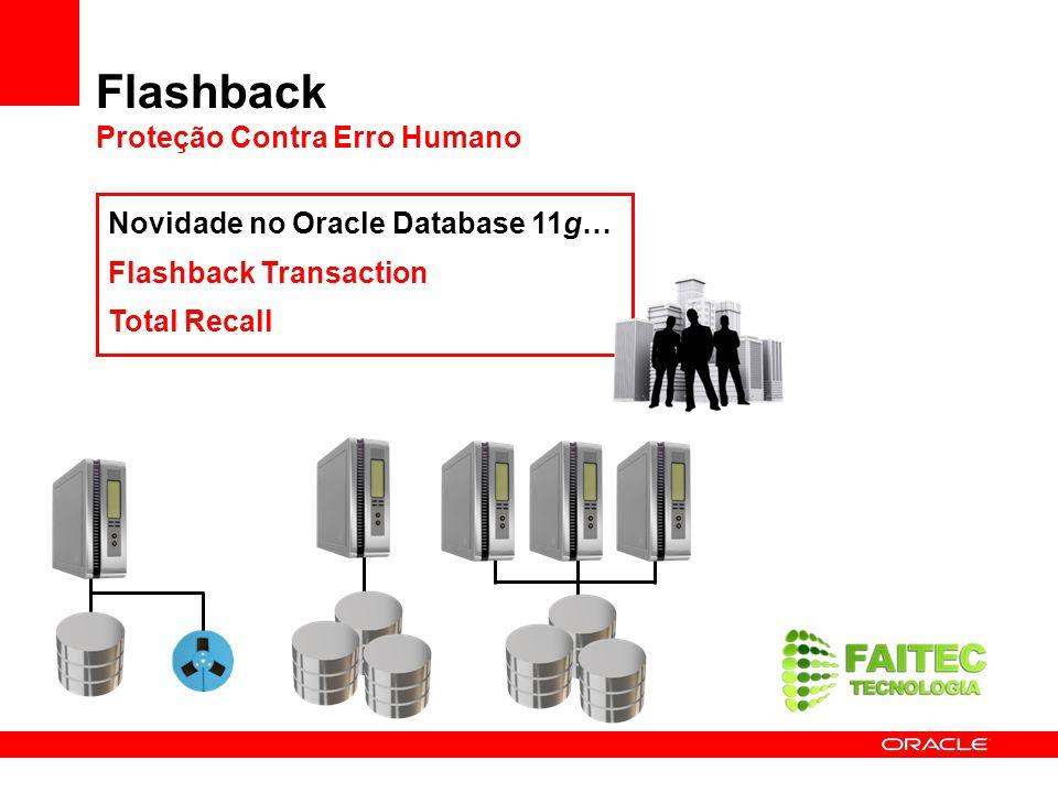 Flashback Proteção Contra Erro Humano Novidade no Oracle Database 11g… Flashback Transaction Total Recall