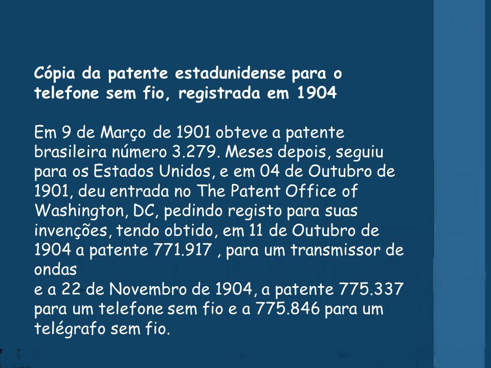 Patente brasileira e americana