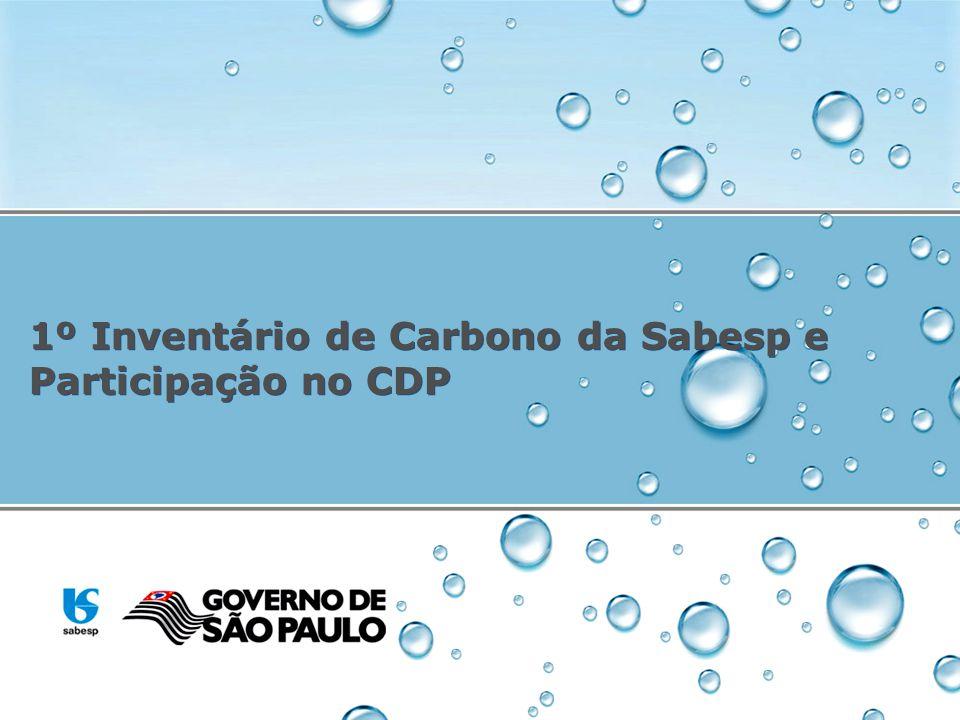 1º Inventário de Carbono da Sabesp e Participação no CDP