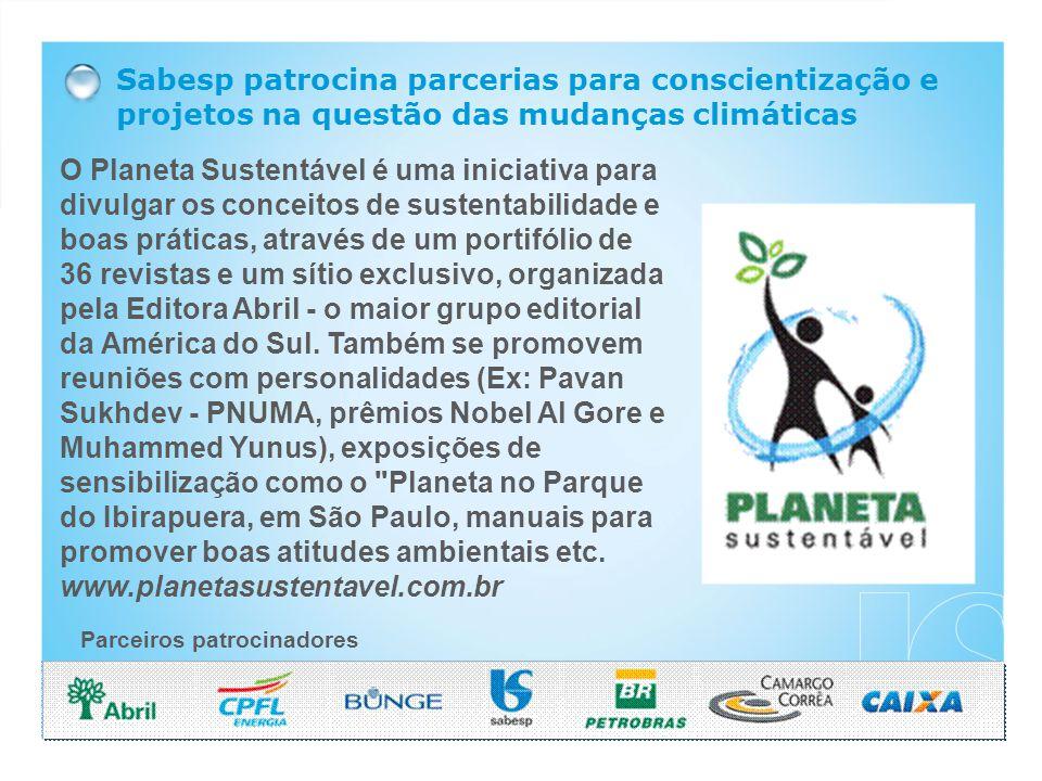 O Planeta Sustentável é uma iniciativa para divulgar os conceitos de sustentabilidade e boas práticas, através de um portifólio de 36 revistas e um sítio exclusivo, organizada pela Editora Abril - o maior grupo editorial da América do Sul.