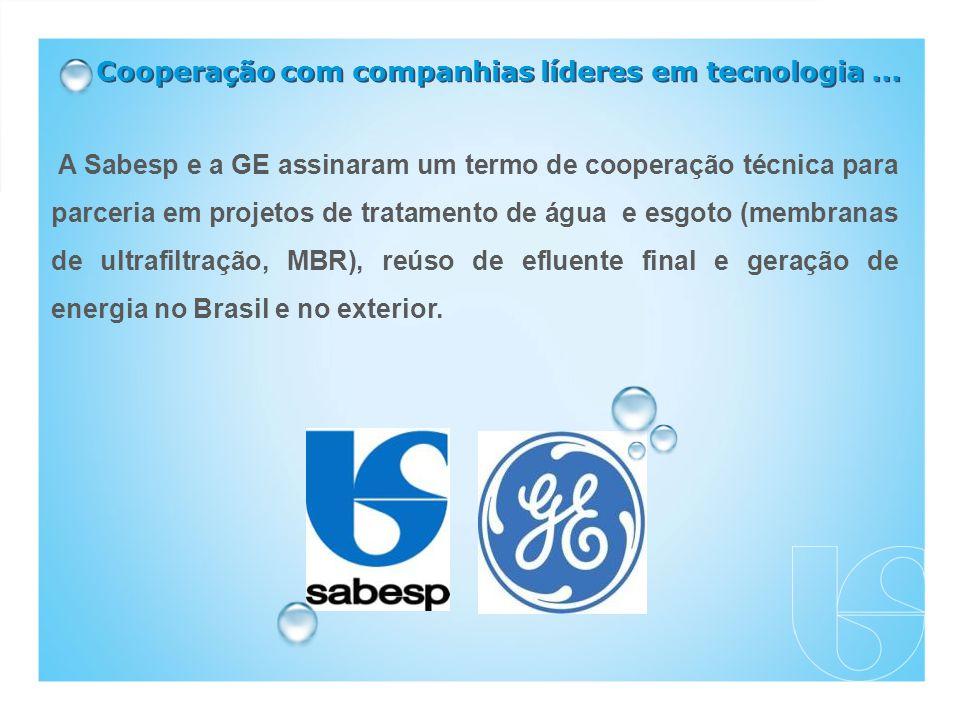 Cooperação com companhias líderes em tecnologia...