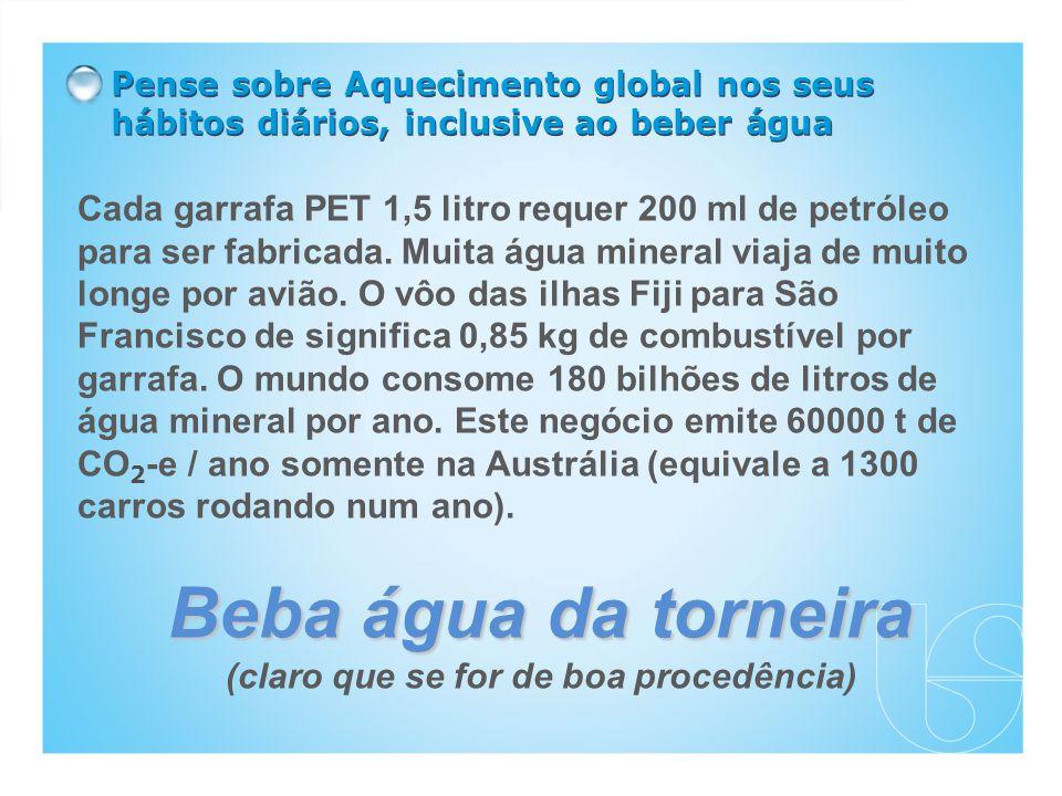 Cada garrafa PET 1,5 litro requer 200 ml de petróleo para ser fabricada.