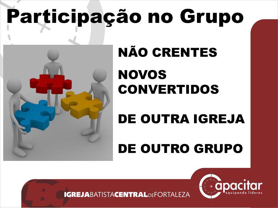 Participação no Grupo NÃO CRENTES NOVOS CONVERTIDOS DE OUTRA IGREJA DE OUTRO GRUPO