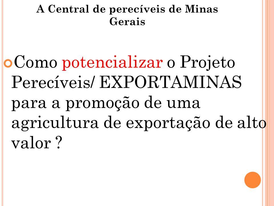 A Central de perecíveis de Minas Gerais Como potencializar o Projeto Perecíveis/ EXPORTAMINAS para a promoção de uma agricultura de exportação de alto valor ?
