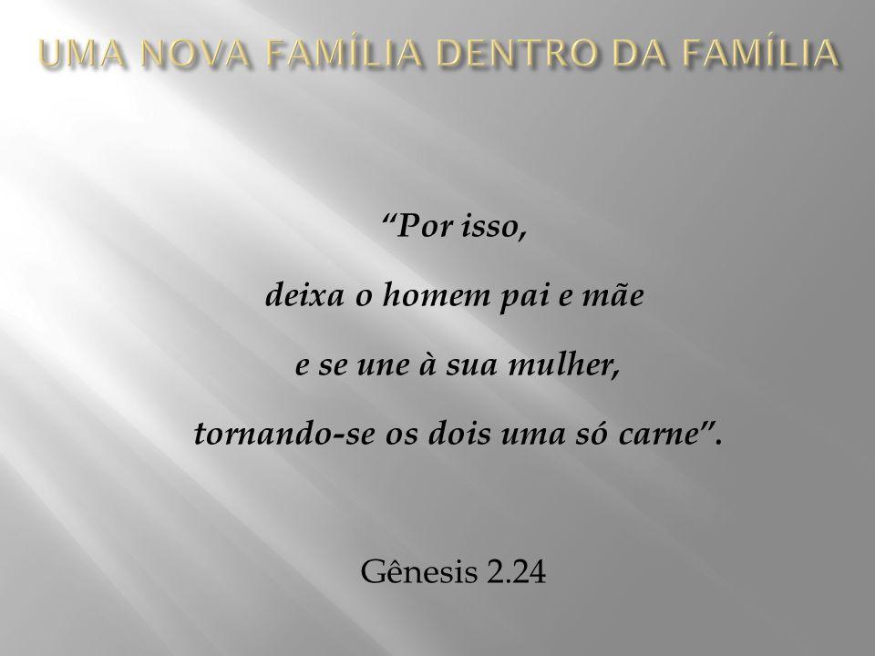 Por isso, deixa o homem pai e mãe e se une à sua mulher, tornando-se os dois uma só carne .