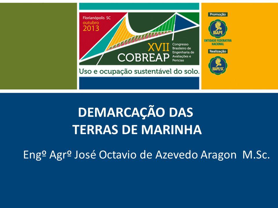 DEMARCAÇÃO DAS TERRAS DE MARINHA Engº Agrº José Octavio de Azevedo Aragon M.Sc.