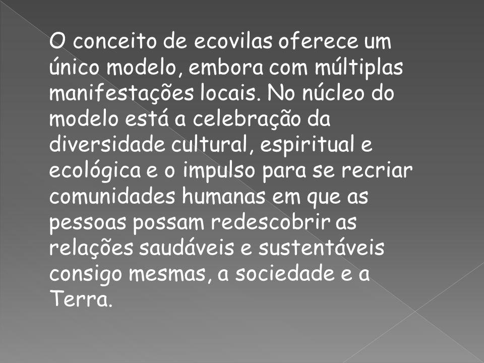 O conceito de ecovilas oferece um único modelo, embora com múltiplas manifestações locais.