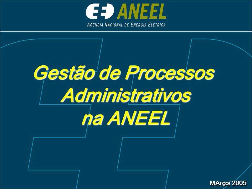 MArço/ 2005 Gestão de Processos Administrativos na ANEEL