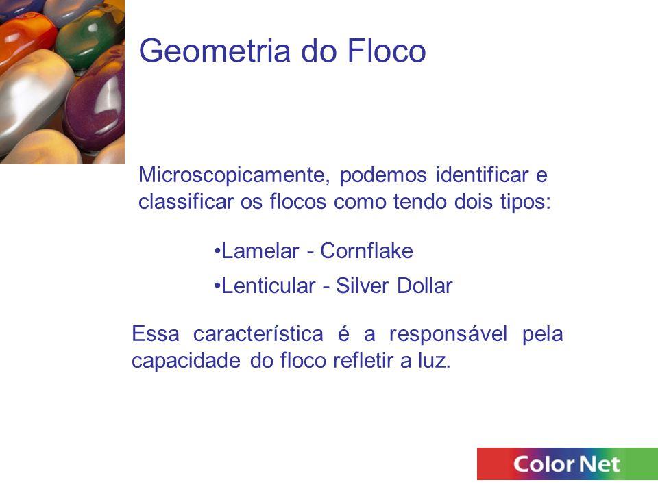 Geometria do Floco Microscopicamente, podemos identificar e classificar os flocos como tendo dois tipos: Lamelar - Cornflake Essa característica é a r