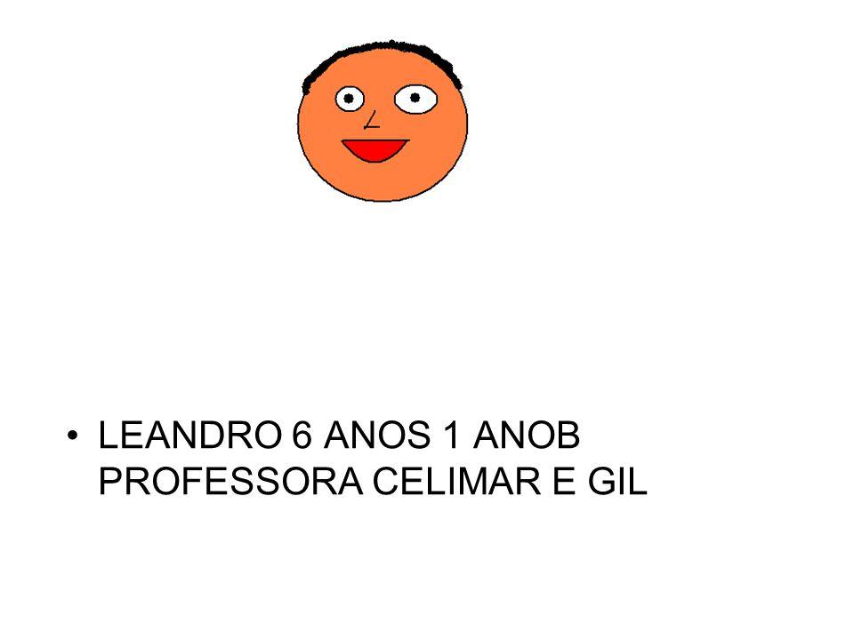 LEANDRO 6 ANOS 1 ANOB PROFESSORA CELIMAR E GIL