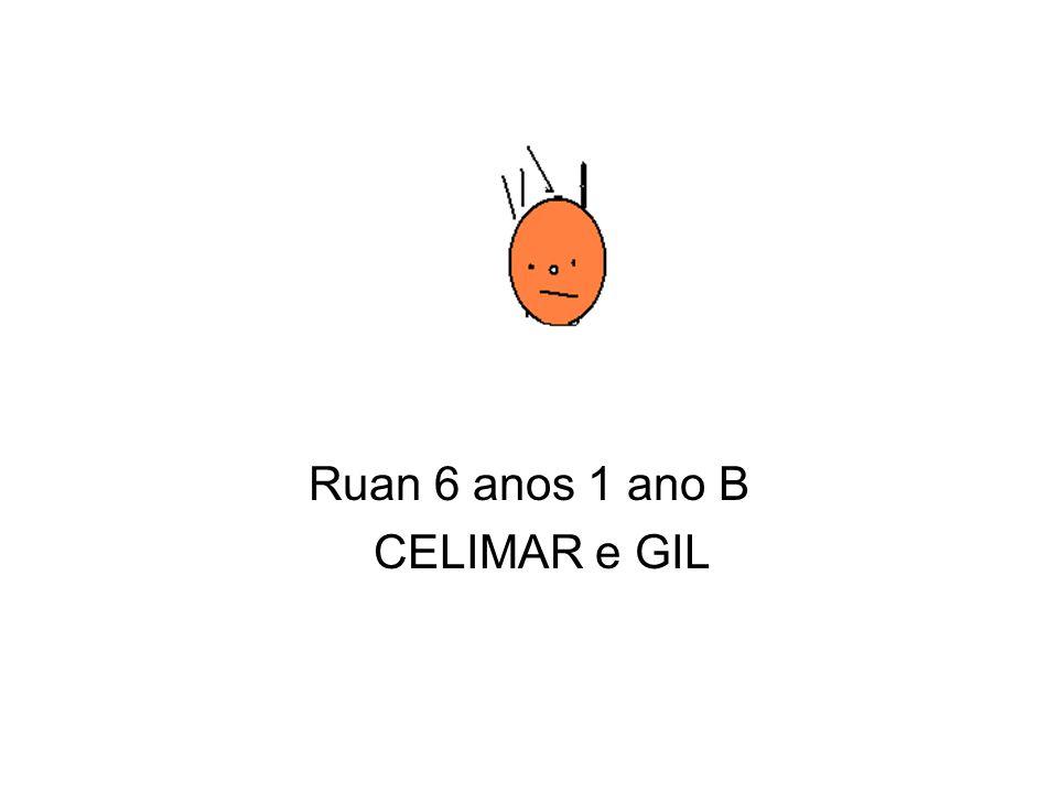 Ruan 6 anos 1 ano B CELIMAR e GIL