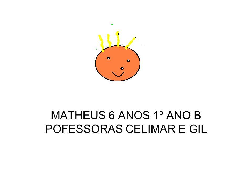 MATHEUS 6 ANOS 1º ANO B POFESSORAS CELIMAR E GIL