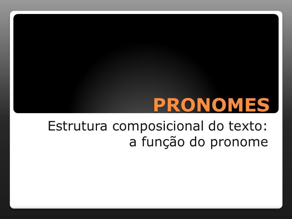 PRONOMES Estrutura composicional do texto: a função do pronome