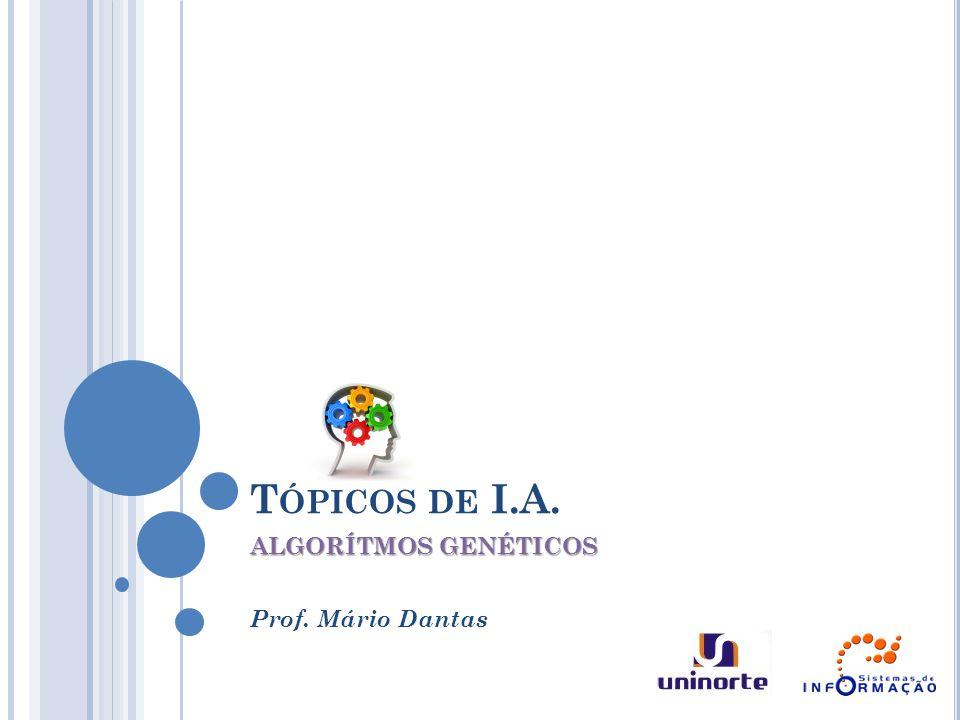 T ÓPICOS DE I.A. ALGORÍTMOS GENÉTICOS Prof. Mário Dantas