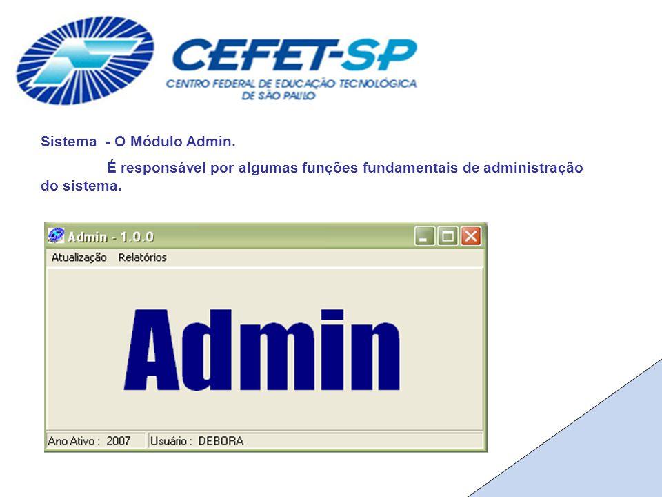 Sistema - O Módulo Admin.