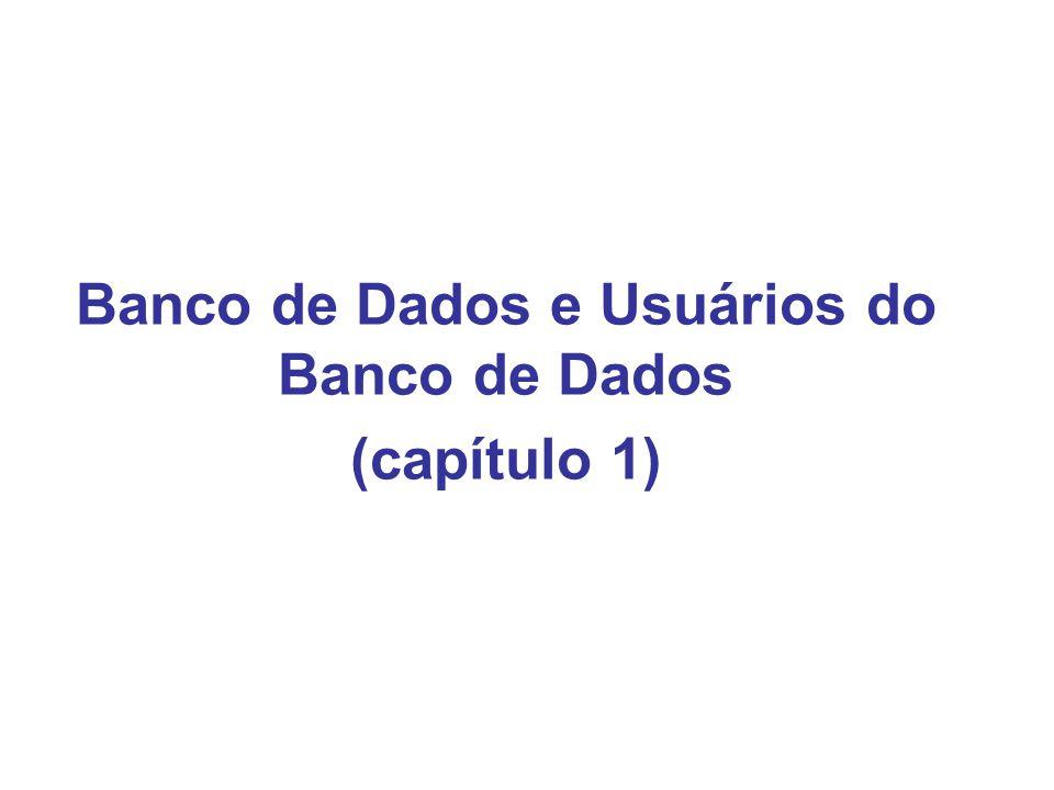 Banco de Dados e Usuários do Banco de Dados (capítulo 1)