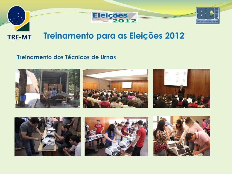 Treinamento para as Eleições 2012 TRE-MT Treinamento dos Técnicos de Urnas