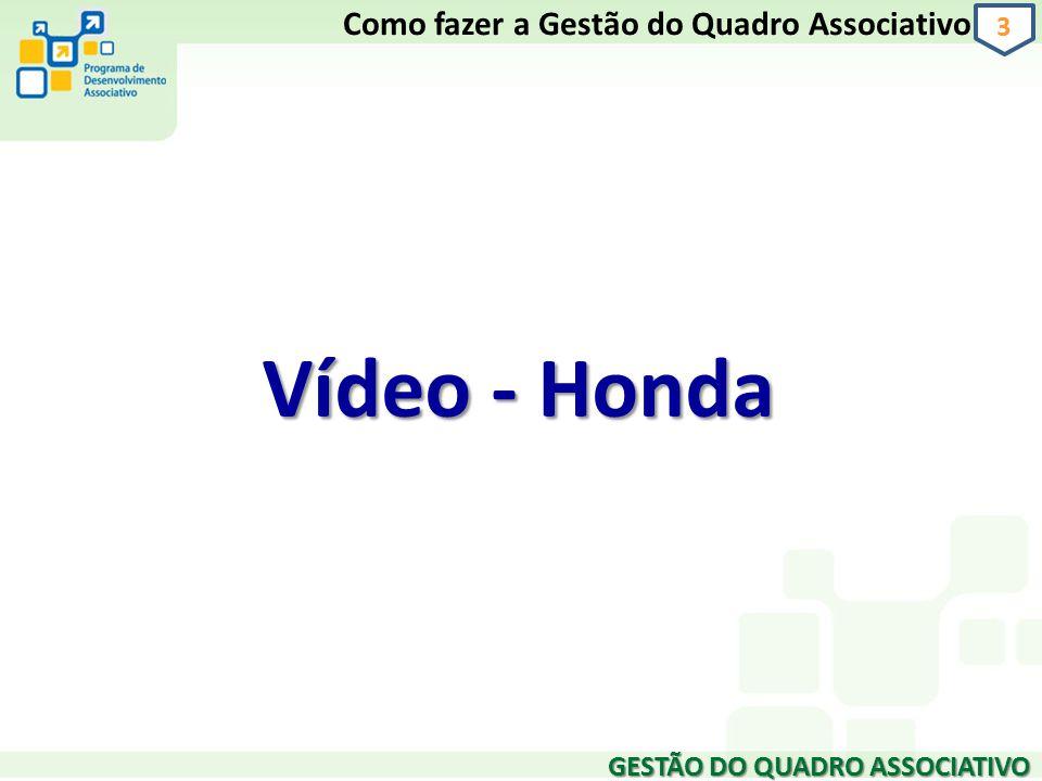 Vídeo - Honda GESTÃO DO QUADRO ASSOCIATIVO 3 Como fazer a Gestão do Quadro Associativo