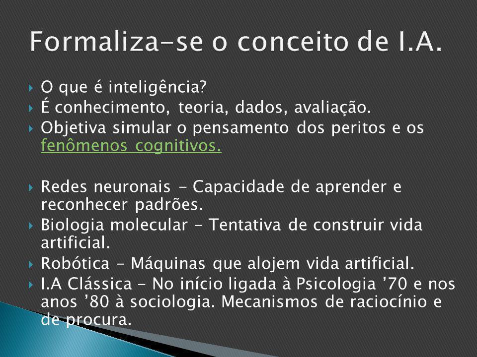  O que é inteligência.  É conhecimento, teoria, dados, avaliação.