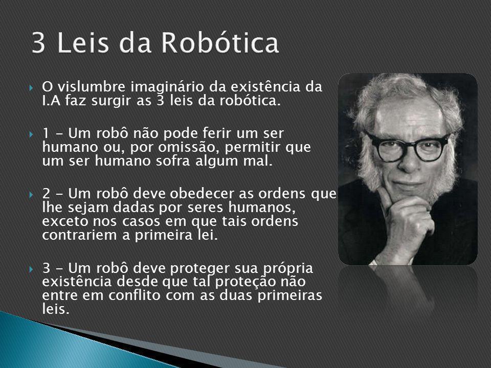  O vislumbre imaginário da existência da I.A faz surgir as 3 leis da robótica.