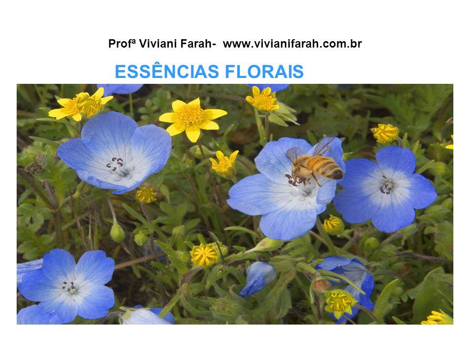 Profª Viviani Farah- www.vivianifarah.com.br ESSÊNCIAS FLORAIS
