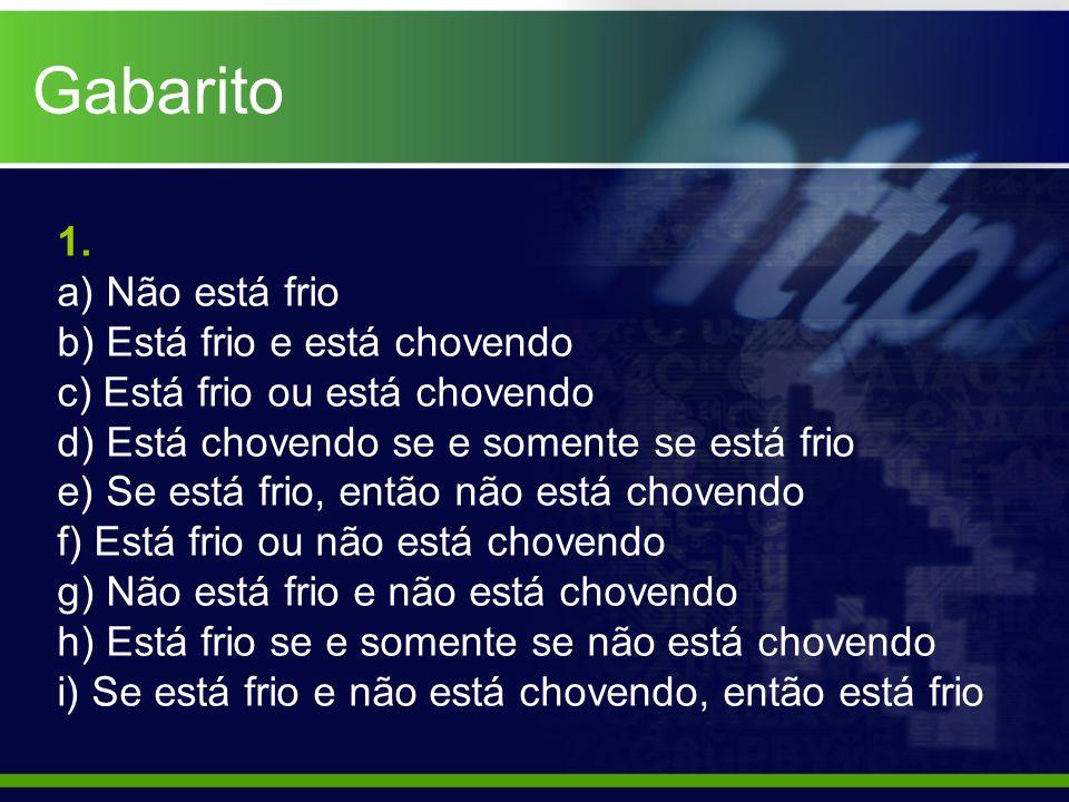 Gabarito 1.