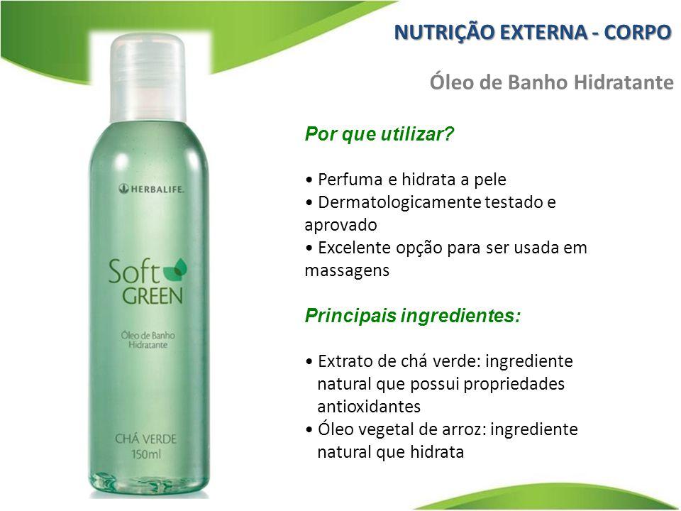 Por que utilizar? Perfuma e hidrata a pele Dermatologicamente testado e aprovado Excelente opção para ser usada em massagens Principais ingredientes: