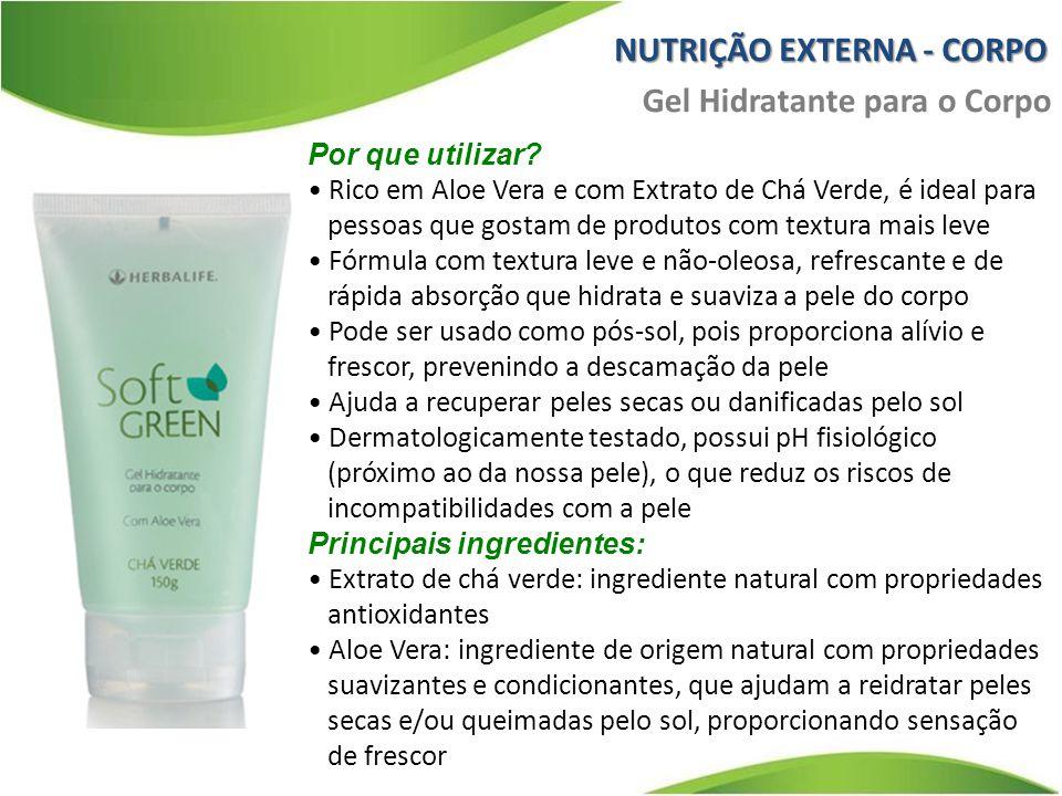 Por que utilizar? Rico em Aloe Vera e com Extrato de Chá Verde, é ideal para pessoas que gostam de produtos com textura mais leve Fórmula com textura