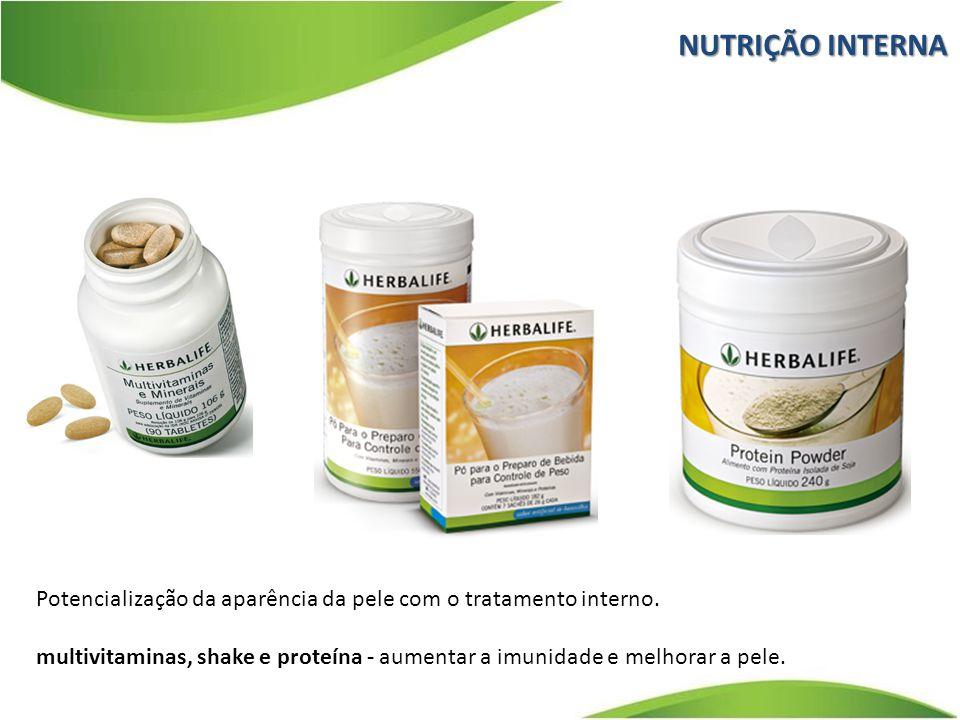 Potencialização da aparência da pele com o tratamento interno. multivitaminas, shake e proteína - aumentar a imunidade e melhorar a pele. NUTRIÇÃO INT