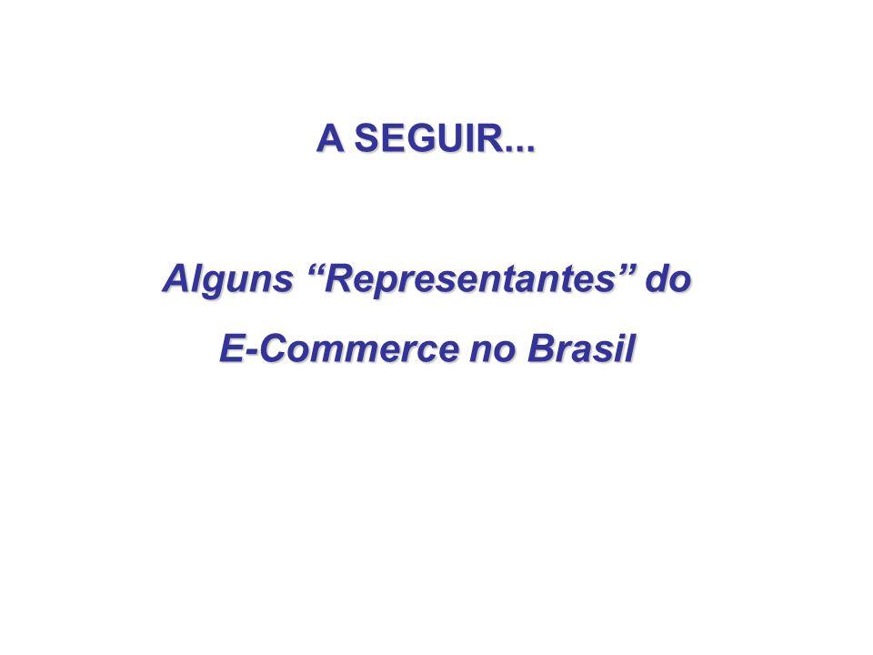 A SEGUIR... Alguns Representantes do E-Commerce no Brasil