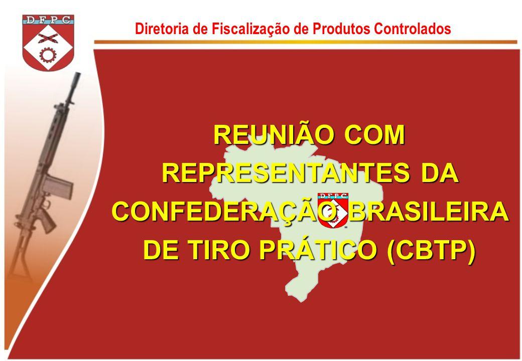Diretoria de Fiscalização de Produtos Controlados REUNIÃO COM REPRESENTANTES DA CONFEDERAÇÃO BRASILEIRA DE TIRO PRÁTICO (CBTP)