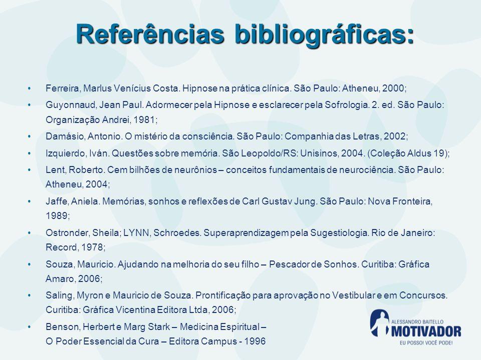 Referências bibliográficas: Ferreira, Marlus Venícius Costa.