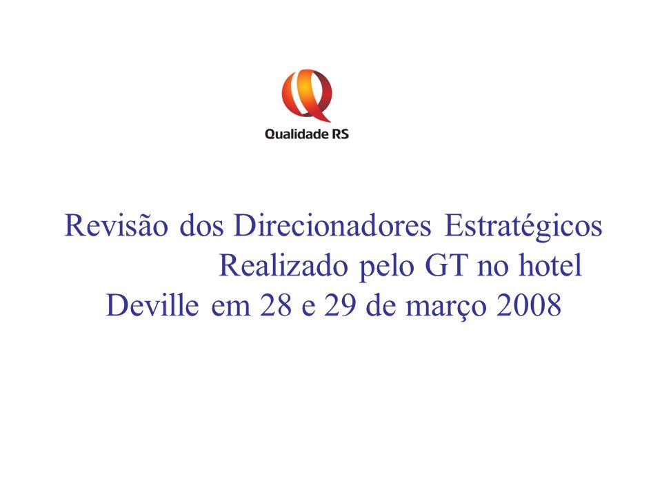 Revisão dos Direcionadores Estratégicos Realizado pelo GT no hotel Deville em 28 e 29 de março 2008