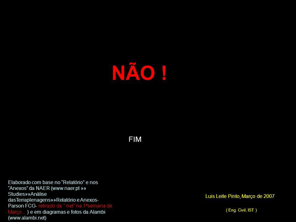 """FIM Luis Leite Pinto, Março de 2007 ( Eng. Civil, IST ) Elaborado com base no """"Relatório"""" e nos """"Anexos"""" da NAER (www.naer.pt »» Studies»»Análise dasT"""