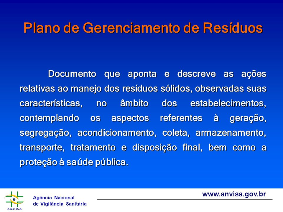 Agência Nacional de Vigilância Sanitária www.anvisa.gov.br ENDEREÇO NA INTERNET http://www.anvisa.gov.br arquitetura.engenharia@anvisa.gov.br  (61) 3462-6883
