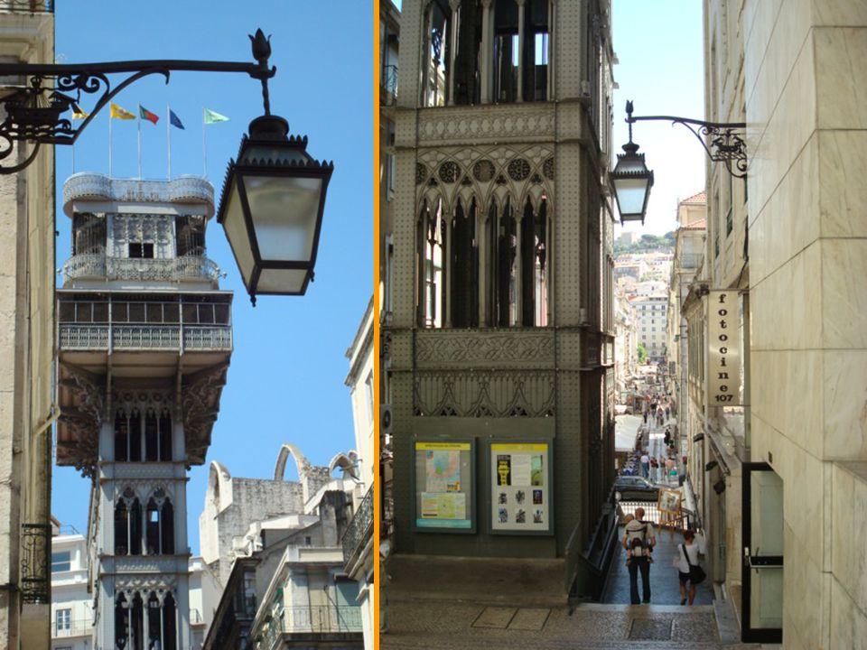 Concebido por Raoul Mesnier du Ponsard, o Elevador de Santa Justa de estilo neogótico, foi construído em ferro no ano de 1901
