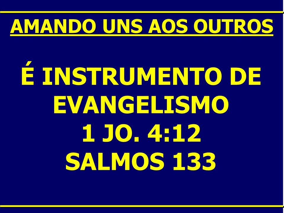 É INSTRUMENTO DE EVANGELISMO 1 JO. 4:12 SALMOS 133 AMANDO UNS AOS OUTROS