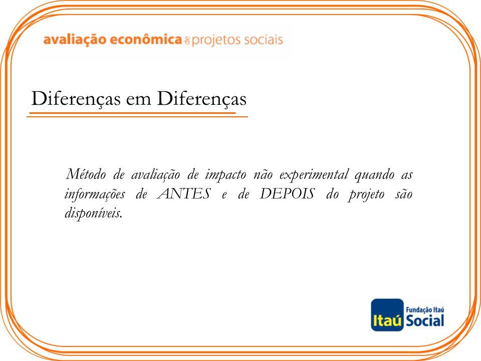 Importante: para concluir acerca do impacto faz-se a regressão de diferenças em diferenças !!!!!