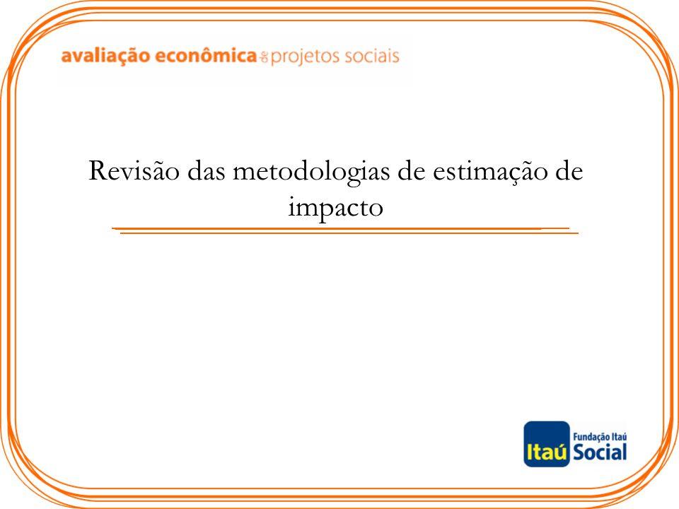 Revisão das metodologias de estimação de impacto