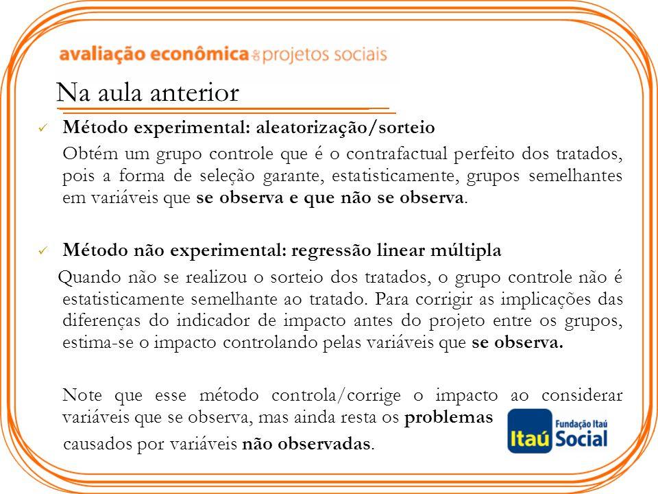 Como assegurar a validade interna O experimento aleatório bem sucedido!!!.