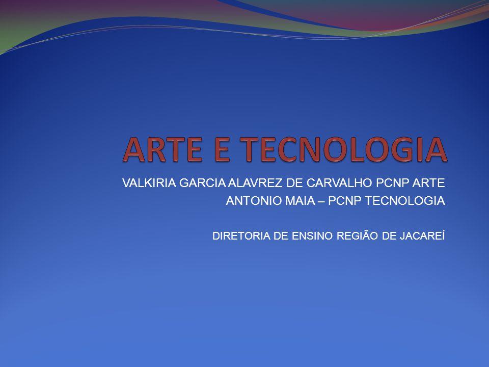 VALKIRIA GARCIA ALAVREZ DE CARVALHO PCNP ARTE ANTONIO MAIA – PCNP TECNOLOGIA DIRETORIA DE ENSINO REGIÃO DE JACAREÍ