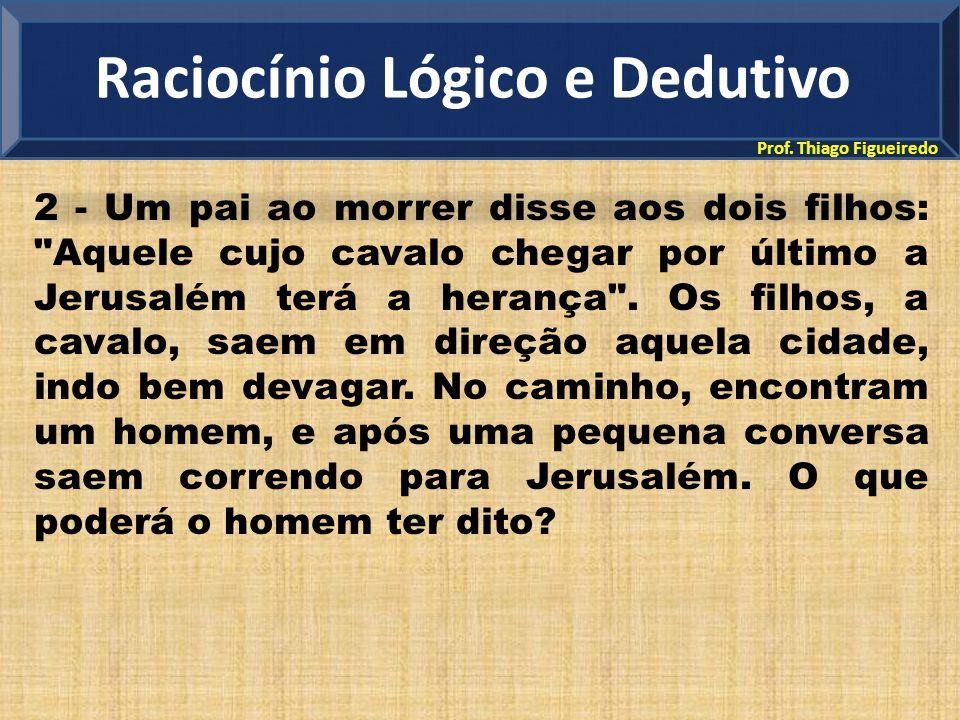 Prof. Thiago Figueiredo 2 - Um pai ao morrer disse aos dois filhos: